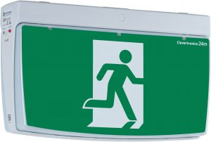 Standard box style exit sign